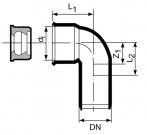 złączka kolanowa do rur metalowycgh