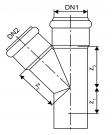 trójnik 45