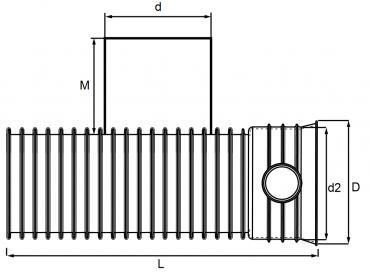 trójnik mc-kg 90 z bosym końcem